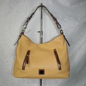 DOONEY AND BOURKE PEBBLE GRAIN COOPER HOBO LEMON L